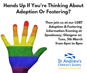 LGBT Adoption & Fostering Information Evening, Glasgow @ Speakeasy