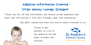Adoption Information Evening, Glasgow @ Virgin Money Lounge