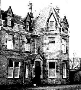 monochrome photo of the Gillis Centre in the Grange - our location until 2003