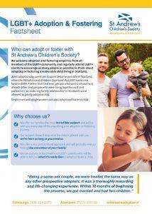 thumbnail of LGBT+ Adoption & Fostering Factsheet