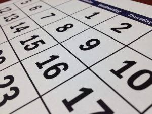 oblique photo of a month on calendar for adoption homestudy