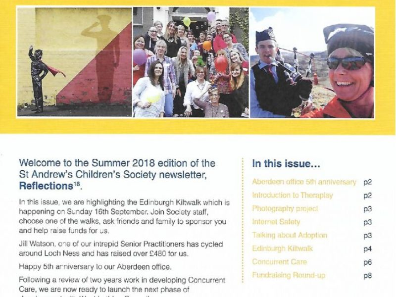 thumbnail of Summer newsletter 2018 – front page
